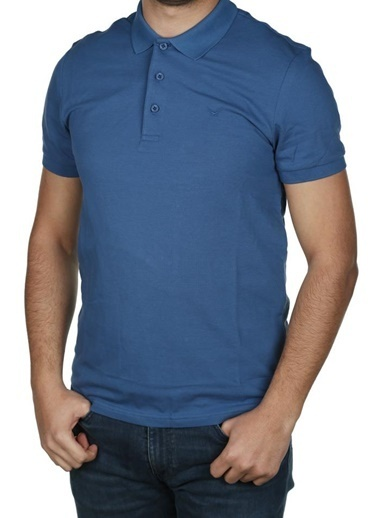 Cazador Cazador Erkek Polo Yaka T Shirt 4613 İndigo
